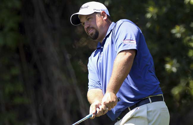 PALM HARBOR, FL - MARCH 19:  Brendon de Jonge plays a shot on the 2nd hole during the third round of the Transitions Championship at Innisbrook Resort and Golf Club on March 19, 2011 in Palm Harbor, Florida.  (Photo by Sam Greenwood/Getty Images) *** Local Caption *** Brendon de Jonge