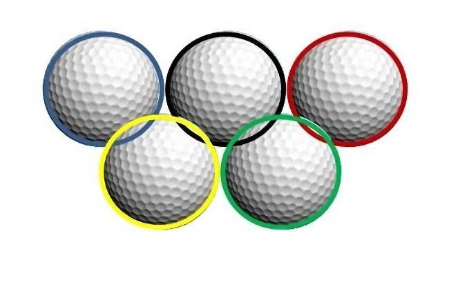 aneis olimpicos com bolas